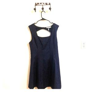 Max and Cleo Sally blue flare dress